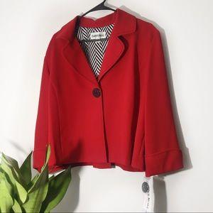 NWT Danny & Nicole | Red Blazer One Button Size 18